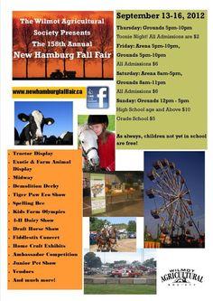 The Annual New Hamburg Fall Fair High School, Fair Grounds, Community, Night, Fall, Hamburg, Autumn, High Schools, Secondary School