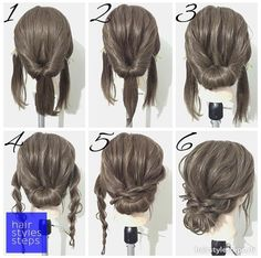 Simple hairstyles medium length hair - New hairstyles 201 .- Einfache Frisuren mittellanges Haar – Neu Haare Frisuren 2018 Simple hairstyles medium length hair hair it Yourself hair - Up Dos For Medium Hair, Medium Hair Updo Easy, Updos For Medium Length Hair Tutorial, Easy Updos For Long Hair, Easy Prom Hair, Cute Updos Easy, Buns For Short Hair, Simple Hair Updos, Hairstyles For Medium Length Hair Easy