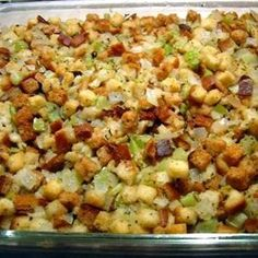 Old Fashioned Bread and Celery Dressing or Stuffing
