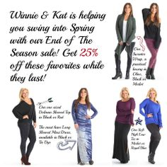 casual meets comfort. A style for every Style! www.winnieandkat.com/Anastasia