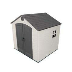Lifetime Products Storage, Tool & Garden Shed 6402 x Resin Storage Shed Plastic Storage Sheds, Plastic Sheds, Outdoor Storage Sheds, Storage Shed Plans, Outdoor Sheds, Outdoor Toys, Outdoor Decor, Outdoor Living, Lifetime Storage Sheds