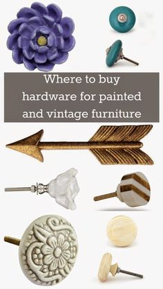 Where to Buy Hardware for Painted and Vintage Furniture – The Weathered Door Bezugsquellen für bemalte und Vintage-Möbel Diy Furniture Hardware, Loft Furniture, Apartment Furniture, Retro Furniture, Repurposed Furniture, Cheap Furniture, Shabby Chic Furniture, Furniture Projects, Furniture Makeover