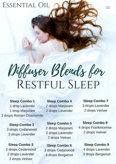 Essential Oil Diffuser Blends for Restful Sleep #aromatherapysleepblends #aromatherapysleeprecipes
