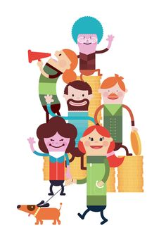 Illustrations - HK Hovedstaden on Behance #character