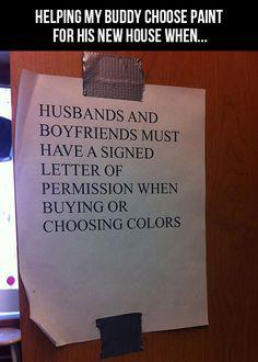 Paint store permission haha