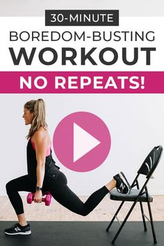 30 Minute HIIT Workout, No Repeats | Nourish Move Love