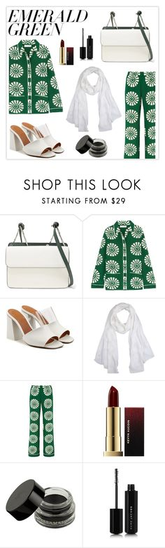 """""""[ e m e r a l d ]"""" by haranata ❤ liked on Polyvore featuring Danse Lente, Valentino, Neous, Versace, Kevyn Aucoin, Illamasqua, Marc Jacobs, hijab, emeraldgreen and hijabstyle"""