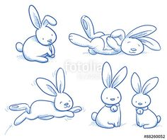 "Laden Sie den lizenzfreien Vektor ""Cute bunny, rabbit collection, in different poses, for example for baby shower or easter card. Hand drawn vector illustration."" von danielabarreto zum günstigen Preis auf Fotolia.com herunter. Stöbern Sie in unserer Bilddatenbank und finden Sie schnell das perfekte Stockbild für Ihr Marketing-Projekt!"