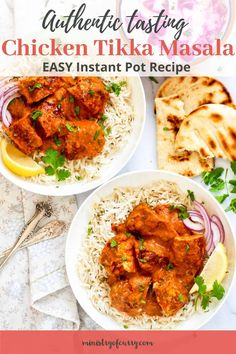 Make authentic tasting Chicken Tikka Masala in the Instant Pot Pressure Cooker with this EASY step by step recipe and video Best Dinner Recipes, Vegetarian Recipes Dinner, Spring Recipes, Whole Food Recipes, Healthy Curry Recipe, Healthy Indian Recipes, Curry Recipes, Instant Pot Curry Recipe, Chicken Tikka Masala