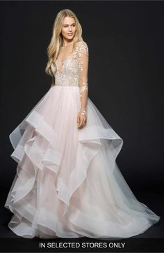 Main Image - Hayley Paige Lorelei Embroidered Tulle Ballgown