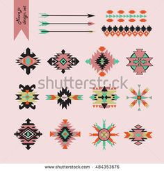 Find Ethnic Navajo Tribal Native American Design stock images in HD and millions of other royalty-free stock photos, illustrations and vectors in the Shutterstock collection. Native American Patterns, Native American Design, Tribal Patterns, Print Patterns, Motif Navajo, Southwest Art, Southwestern Chairs, Mexican Pattern, Navajo Nation