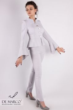 c94b319aa2 Elegancki wizytowy zestaw żakiet ze spodniami z De Marco.  demarco   frydrychowice  sukienka