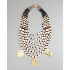 Devon Leigh Multi-Strand Drop Necklace found on Polyvore