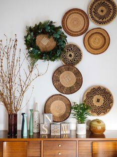 Holiday Inspiration with Hallmark at Walgreens Home Decoration Brands, Ethno Design, Ikea, Wall Decor, Room Decor, Wall Installation, Baskets On Wall, Wall Basket, Cabinet Decor