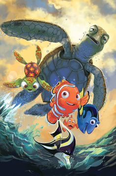 *CRUSH, SQUIRT, DORY, MARVIN & NEMO ~ Finding Nemo, Released: 2003