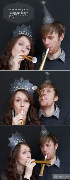 DIY - Paper New Year's Eve Hats 2013 - Free PDF Printable + Instruction