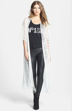 Wayf Long Lace Cardigan available at #Nordstrom