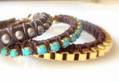 Leather Bracelet Friendship Bracelet  Chocolate by KesTdesigns, $38.00