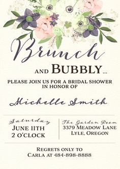 23 bridal shower invitation ideas that youre going to love watercolor brunch and bubbly bridal shower invitation filmwisefo