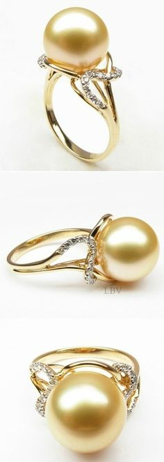 South Sea Pearl Ring.| LBV S14 ♥✤