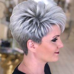 Short Silver Hair, Short White Hair, Shaggy Short Hair, Very Short Hair, Short Hair With Layers, Cute Hairstyles For Short Hair, Short Shag, Shot Hair Styles, Curly Hair Styles