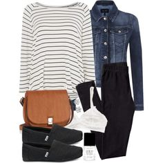 Allison Inspired Birthday Outfit with Jeans by veterization on Polyvore featuring Tommy Hilfiger, Armani Jeans, H&M, TOMS, Oasis, Juicy Couture and Forever 21 Teen Wolf Outfits, Lazy Day Outfits, Jean Outfits, Cute Outfits, School Girl Outfit, Girls School, School Outfits, Tommy Hilfiger Top, E Design