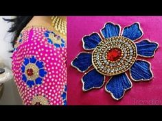 grand aari flower petal design using with narmol needle Bead Embroidery Tutorial, Hand Embroidery Videos, Bead Embroidery Patterns, Embroidery Motifs, Simple Embroidery, Hand Embroidery Designs, Mirror Work Blouse Design, Maggam Work Designs, Designs For Dresses