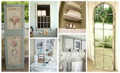 There are so many ideas on how to re-purpose old doors. !!