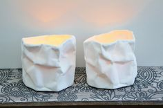Scrunch Porcelain Tealight Holders, for a stylish & warm ambience. http://www.giftloft.co.nz/collections/gifts-for-teenage-girls