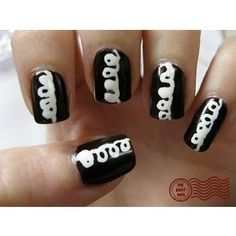 nails...talk about wanting to eat your nails.  Does anyone else think this looks like the top of a hostess cupcake?
