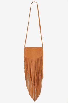Bad Moon Rising Leather Fringe Bag - Brown