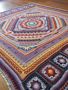 Rainbow Sophie's Universe blanket by ItsallinaNutshell on Etsy