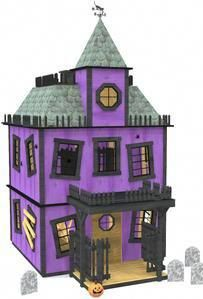Looking for a spooky backyard experience? How about a large, Victorian style playhouse project? The two story Haunted House Playhouse Plan is a fun build kids will love. Kids Playhouse Plans, Outside Playhouse, Backyard Playhouse, Build A Playhouse, Childrens Playhouse, Creepy Old Houses, Interior Balcony, Months In A Year, Building Plans