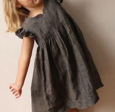 lovely grey geranium dress by madebyrae Fashion Kids, Little Girl Fashion, Little Girl Dresses, Girls Dresses Sewing, Dress Sewing, Modest Dresses, Geranium Dress, Moda Kids, Cute Outfits For Kids