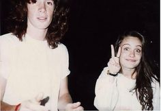 Demri Parrott, with, I believe, her brother, Devin Remme (also deceased). :(