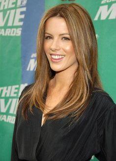Kate Beckinsale- hair color and natural makeup