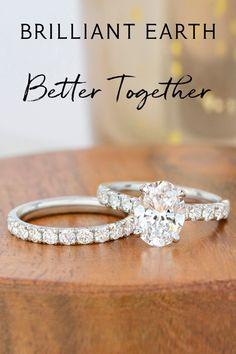 Matching Wedding Rings, Wedding Ring Styles, Wedding Matches, Wedding Bands, Wedding Ideas, Timeless Engagement Ring, Dream Engagement Rings, Engagement Ring Styles, Fiancee