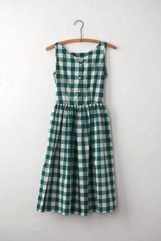 Green and white gingham print summer dress Mode Style, Style Me, Pretty Outfits, Cute Outfits, Textiles Y Moda, Look Fashion, Womens Fashion, Fashion Killa, Street Fashion