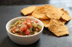 Tomatillo Salsa #recipes #dips #salsa #chips #entertaining #party