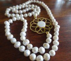 Collar en perlas cultivadas