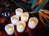 Flameless LED Candles ~ Set of Six Real Wax Votives, Ivory Color, Flickering Unscented Candle Sets For Parties, Weddings or Romance. Safe Around Children and Pets. Battery operated Pillar Style with Pre-Installed Flameless Candles, Candle Wax, Votive Candles, Candle Quotes, Church Candles, Thing 1, Aromatherapy Candles, Shabby Chic Christmas, Just Because Gifts
