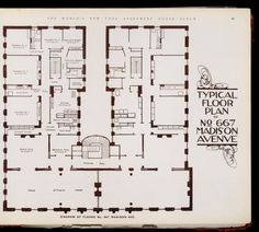 Typical Floor plan of No. 667 Madison Avenue.