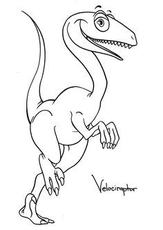 Velociraptor Lived 75 Million Years Ago During The Cretaceous Period He Was A Hunting Dinosaur And Very Smart Print Our Free Coloring Pages