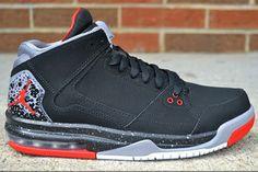 afd291fe2f0 NIKE AIR JORDAN FLIGHT ORIGIN BLACK GREY RED 599593 003  130 Best Basketball  Shoes