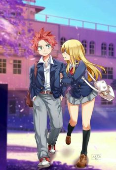 Fairy Tail Nalu (Natsu and Lucy) Fairy Tail Lucy, Fairy Tail Nalu, Rog Fairy Tail, Fairy Tale Anime, Fairy Tail Family, Fairy Tail Guild, Fairy Tail Couples, Fairy Tail Ships, Fairy Tales