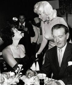 Sophia Loren, Jayne Masnfield, Clifton Webb