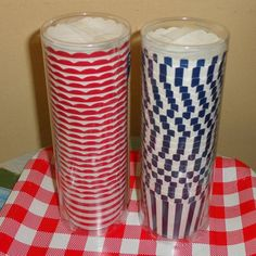 4th of July red white striped or Blue white striped paper baking cups liners party favors | Candy Buffet Weddings and Events | Scoop.it