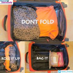 #Traveltip #Packingtips Packing Tip : You have lots of clothes and stuffs but Bag is Too Small Here is the Way to make it. For more travel Updates/Offers and Interesting Stuffs be connected to Travel Universally