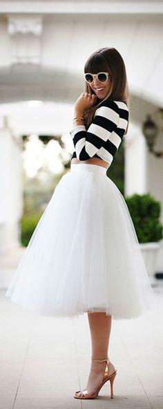 Este verano, el blanco y negro sigue siendo tendencia en moda #tendencias #moda #verano14
