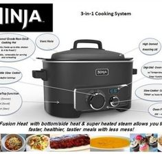 It's been 3 months since I purchased my 3 in 1 Ninja Cooking System with Triple Fusion Heat Technology. It is an advanced system that combines oven, stovetop cooking, slow cooking, steam roasting and baking technology. It allows you to cook faster, healthier and add more flavor to your meals.  Since I have an older oven that doesn't work well the Ninja has really improved my cooking abilities & the meals for the family. I would highly recommend it. So, I thought I would share the different…